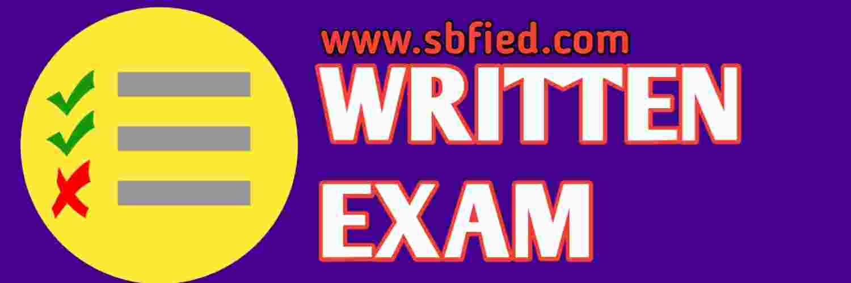 sbfied police bharati written exam